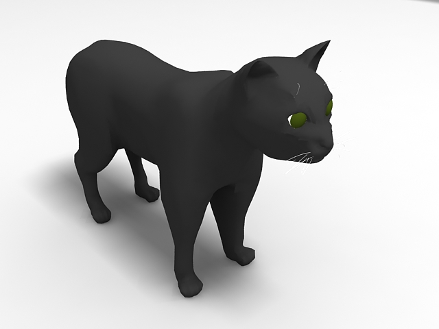 Black Cat 3d Model 3ds Max Files Free Download Modeling