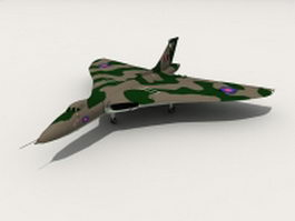 Avro Vulcan strategic bomber 3d model