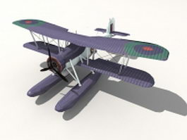 Fairey Swordfish floatplane 3d model