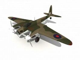 DH.98 Mosquito combat aircraft 3d model