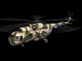 Mil Mi-8 transport helicopter 3d model