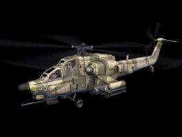 Mi28 attack helicopter 3d model