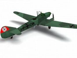 Fw 58B German aircraft 3d model