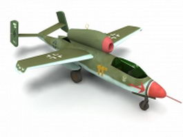 HE 162 fighter aircraft 3d model