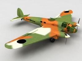 He 111 Bomber 3d model
