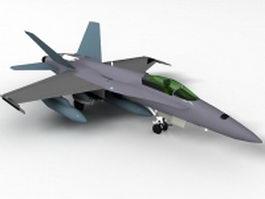 F/A-18 Hornet Fighter Jet 3d model