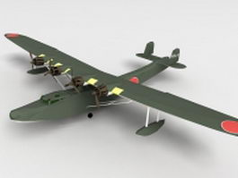 H6K Mavis flying boat 3d model