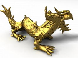 Chinese gold dragon 3d model