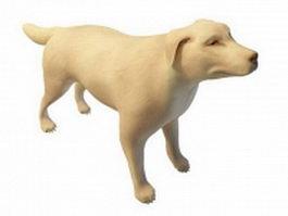White dog 3d model