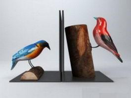 Woodpecker birds 3d model