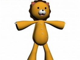 Cartoon lion toy 3d model