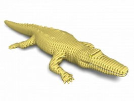 Large alligator 3d model