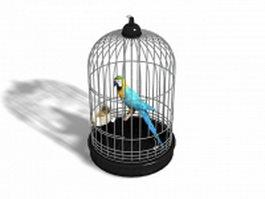 Parrot bird cage 3d model