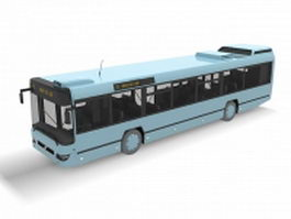 Big blue bus 3d model