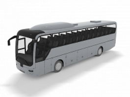 Long-distance bus 3d model