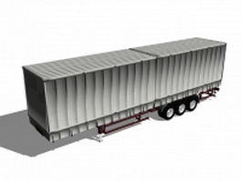 Box truck trailer 3d model