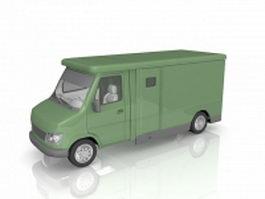Money truck 3d model