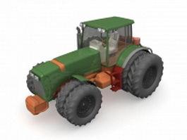 8 Wheel tractor 3d model