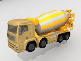 Concrete truck mixer 3d model