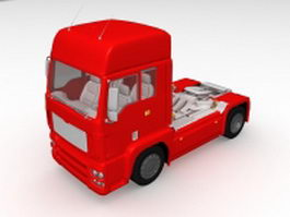Red tractor unit 3d model