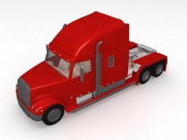 Big semi truck 3d model