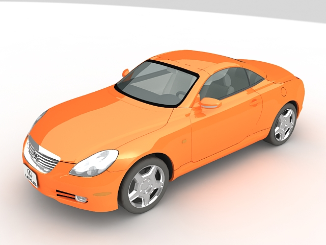 Lexus SC430 grand tourer 3D Model