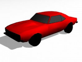 Red coupe car 3d model