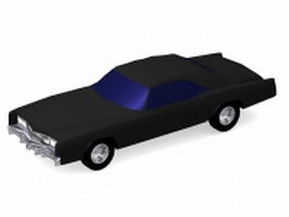 Black classic car 3d model