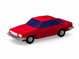 Ruby red car 3d model