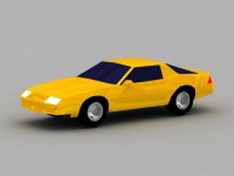 Yellow coupe 3d model