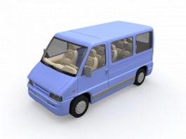 Passenger van 3d model