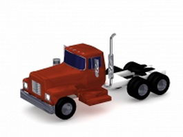 Semi tractor truck 3d model