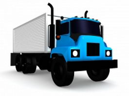 Box van truck 3d model