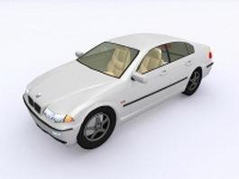 White BMW car 3d model