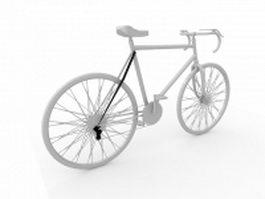 Racing bicycle 3d model