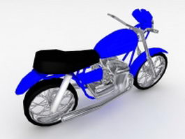 Blue motorcycle 3d model
