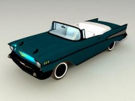 1956 Chevrolet convertible 3d model