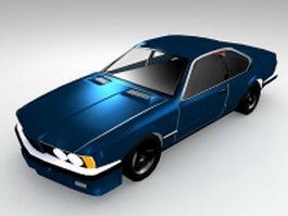 Cool blue car 3d model