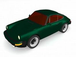 Vintage coupe car 3d model