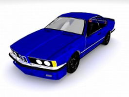 Blue racing car 3d model