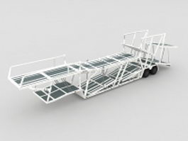 Car carrier trailer 3d model