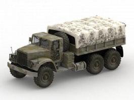 KrAZ-255 off-road truck 3d model