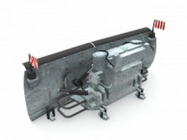 Truck mounted snow plow 3d model