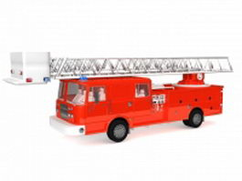 Ladder fire truck 3d model