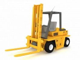 Forklift truck 3d model