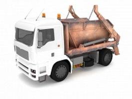 Dumpster hauler truck 3d model
