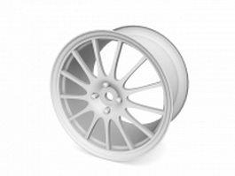 Car wheel rim 3d model
