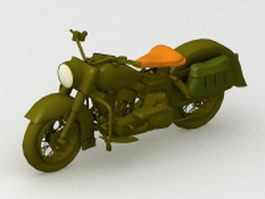 WW2 military motorcycle 3d model