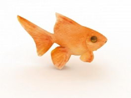 Orange goldfish 3d model