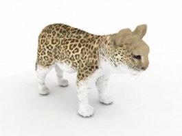 Baby leopard 3d model